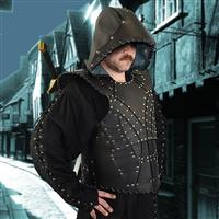 Dark Rogue Leather Armor With Hood