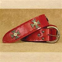 Medieval Wide Long Belt Red