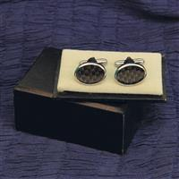 Cuff Links Black Checkered