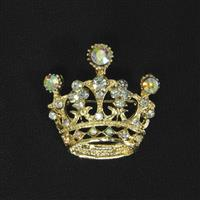 Golden Crown Brooch