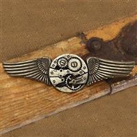 Steampunk Winged Gear Pin