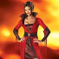 Seductive Devil Ladies Compete Costume