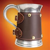 Metal Mug with Brown Wrap