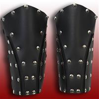 Dark Rogue Leather Vambraces