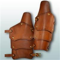 Reginald Leather Arm Vambraces