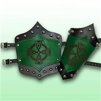 Celtic King's Leather Arm Vambraces