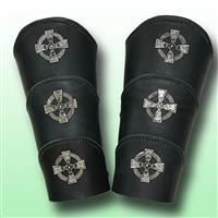 Celtic Warrior Leather Arm Vambraces