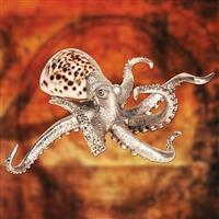 Pewter Octopus with Shell