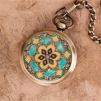 Floral Inlay Pocket Watch