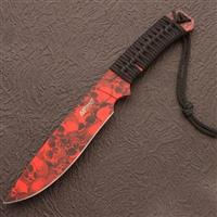 Apocalypse Red Skull Knife