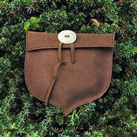 Leather Acorn Shaped Pouch