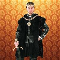Duke of Suffolk Black Fur-Trimmed Cape