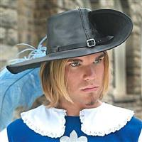 Leather Cavalier Hat