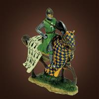 Checkered Knight on Horseback Statue