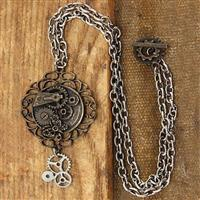 Butterfly Gear Steampunk Necklace