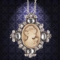 Victorian Brown Cameo Necklace