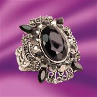 Black Onyx Stretch Ring