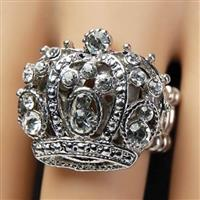 Royal Crown Adjustable Ring