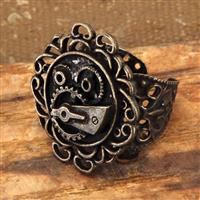 Single Gear Steampunk Ring