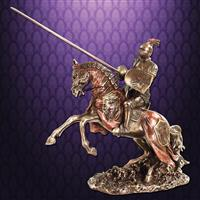 Jousting Knight w/ Eagle Statue