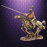 Jousting Knight w/ Lion Statue