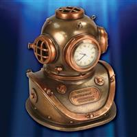 Diving Helmet Clock