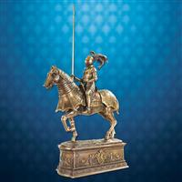 Equestrian Knight in Armor Statue