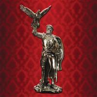 Templar Knight with Falcon Statue