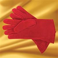 Suede Gauntlets, Red