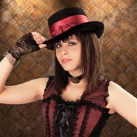 Lady's Rose Victorian Top Hat