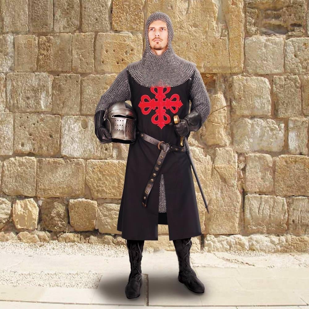 Crusader's Black Quartered Tunic – MuseumReplicas.com