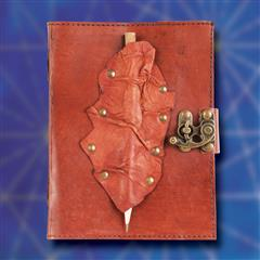 Riveted Leather Journal with Pencil