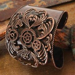 Antique Copper Steampunk Cuff