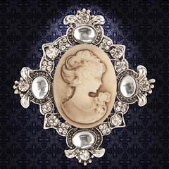 Victorian Brown Cameo Brooch