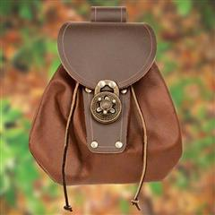 Brown Leather Spin Lock Sporran
