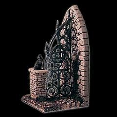 Cemetery Gate Bookend