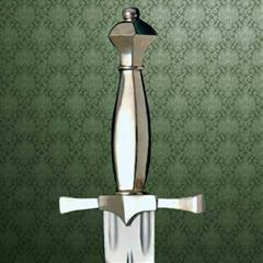 Silver Hilted Dagger