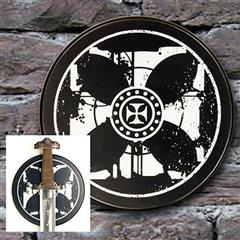 Templar Cross Sword Plaque - Round
