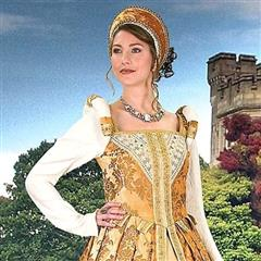 Renaissance Womens Costumes - Accessories Anjou Gown