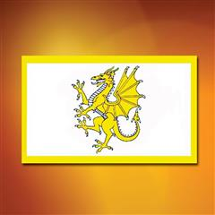 Golden Welsh Dragon Flag