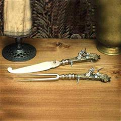 Flintlock Knife & Fork Gun Set