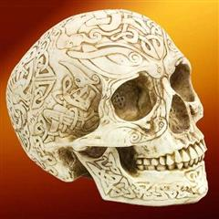 Full Size Celtic Skull