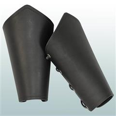 Plain Leather Arm Vambraces