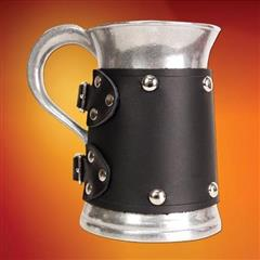 Metal Mug with Black Wrap