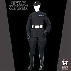 Imperial Death Star Officer Full Ensemble with Boots