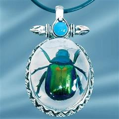Insect Art Rutelian Beetle Necklace