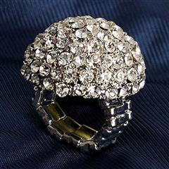 Jeweled Dome Adjustable Ring