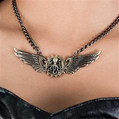 Steampunk Winged Octopus Necklace