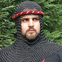 Blackened Mail Armor Coif