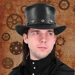 Leather Top Hat